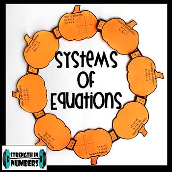 Systems of Linear Equations Activity Fall Pumpkin Wreath (Halloween)
