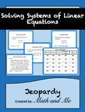 Systems of Linear Equations Jeopardy Review