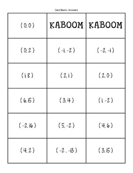 Systems of Linear Equations KABOOM