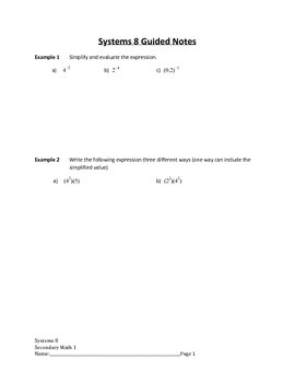 Systems of Linear Equations Lesson 8 of 12