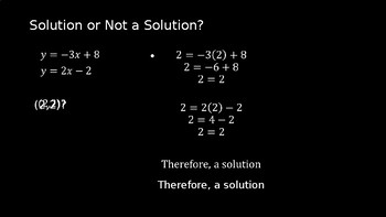 Systems of Linear Equations - PowerPoint Lesson (11.7)