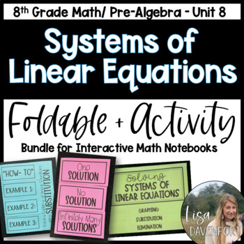 Systems of Linear Equations (Pre-Algebra Foldable & Activi