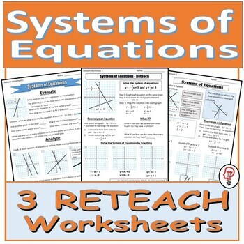 Solve Systems of Equations by Graphing - Reteach Worksheets