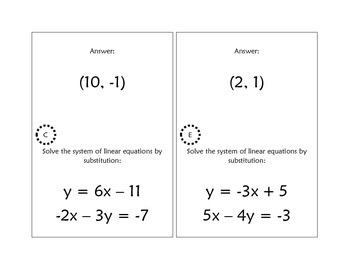 Systems of Linear Equations Scavenger Hunt