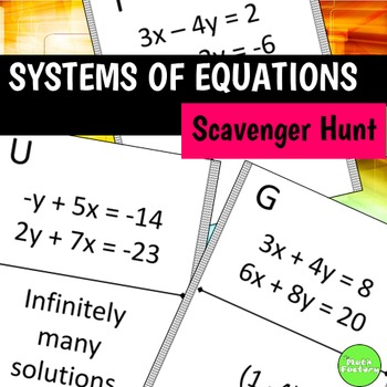 Systems of Equations Scavenger Hunt