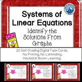 Systems of Linear Equations Solutions Graphed Boom Cards-Digital Task Cards