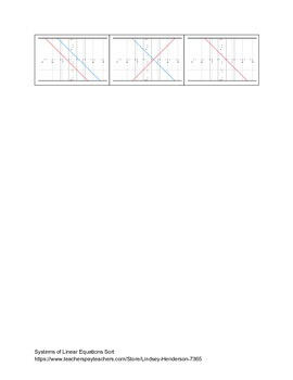 Systems of Linear Equations Sort