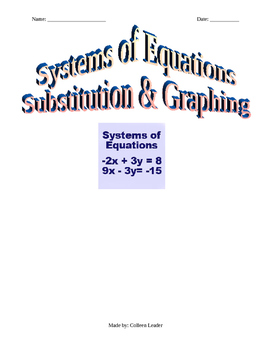 Systems of Linear Equations Substitution & Graphing