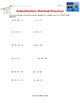 Systems of Linear Equations Substitution Practice