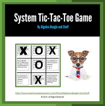 Systems of Linear Equations Tic-Tac-Toe
