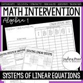 Systems of Linear Equations Unit Algebra 1 Intervention Program