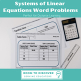 Systems of Linear Equations Word Problems - HSA.REI.C.6, 8.EE.C.8