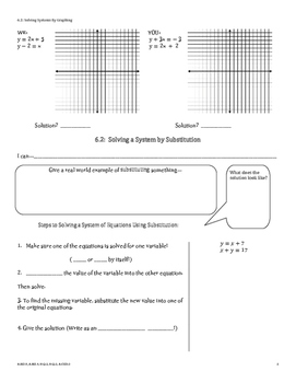 Systems of Linear Equations and Inequalities Guided Notes
