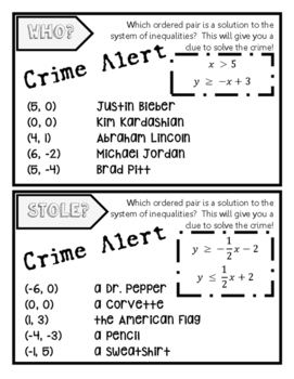Systems of Linear Inequalities Crime Alert!