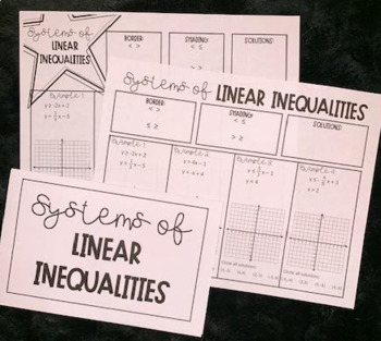 systems of linear inequalities guided notes by lisa davenport tpt. Black Bedroom Furniture Sets. Home Design Ideas
