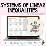 Systems of Linear Inequalities Puzzle Pixel Art Activity