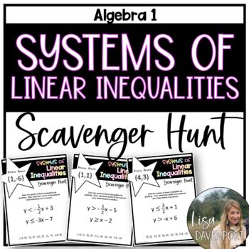 Systems of Linear Inequalities (Scavenger Hunt)