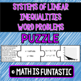 Systems of Linear Inequalities Word Problems Puzzle