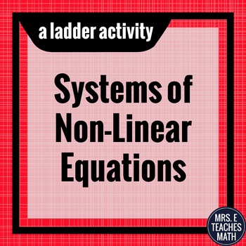 Systems of Non-Linear Equations Ladder Activity