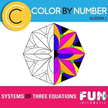 Systems of Three Equations Color by Number Freebie