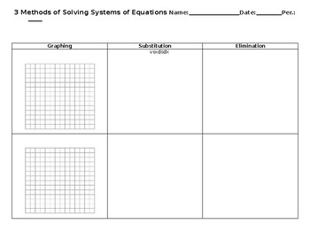 Systems of equation template