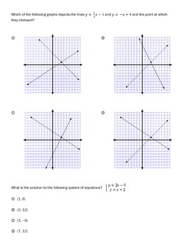 Systems of equations --Worksheets for a full unit