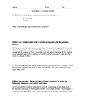 Systems of equations applications