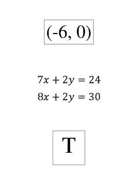 System of equations using elimination scavenger hunt