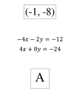 Systems of equations using elimination scavenger hunt (easy)