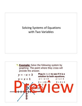 Systems of equations with 2 variables Keynote Presentation