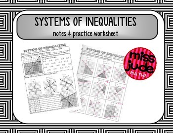 Systems of inequalities Notes & Practice sheet