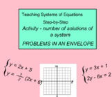 System of Equations Lesson 5 - ACTIVITY