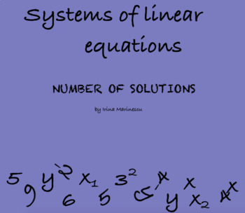 Systems of linear equations - Number of solutions