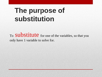 Systems using substitution