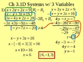 Systems with 3 Variables