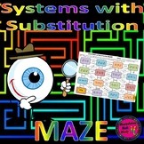 Systems with Substitution Method Maze Activity - distance