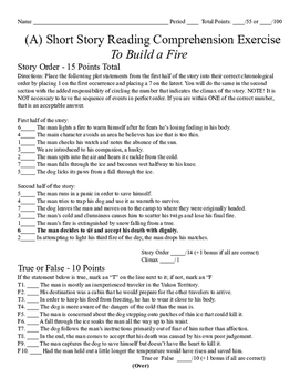To Build a Fire - A Higher Level Examination