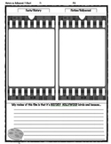 T-Chart Graphic Organizer for Movies/Films