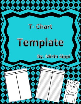 T-Chart Graphic Organizer Template (Differentiated)