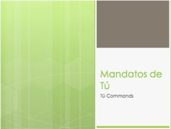 Spanish Tú Commands Notes