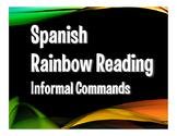 Spanish Tú Commands Rainbow Reading