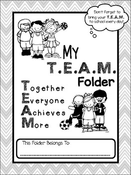 **EDITABLE** T.E.A.M. Folder Binder Cover