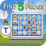 T Find 5 Frogs - Articulation Activity - Teletherapy - Dig