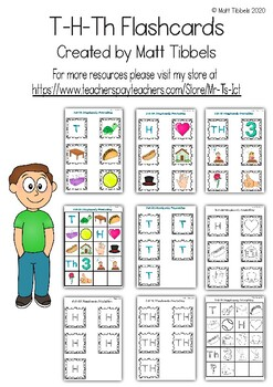 T - H - Th Flash Cards for Memory or Sorting