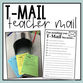 T-Mail (Teacher Mail) **FREEBIE**