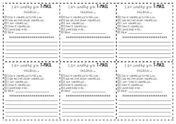 T-Mail (Teacher-Mail) Student Forms