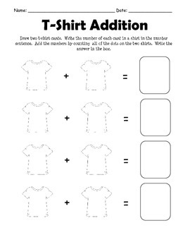 T-Shirt Addition and Subtraction Center