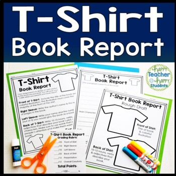 T-Shirt Book Report: Students Love to Decorate a T Shirt for their Book!