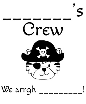 T-Shirt Design for Pirate-y Tiger Theme
