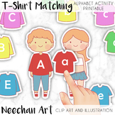 T-Shirt Matching and Dress Up Alphabet Activity Printable